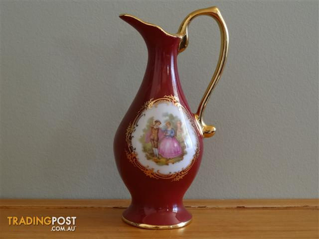 Vintage French Limoges Porcelain Miniature Pitcher 14cm high
