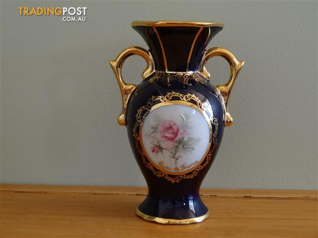 Vintage French Limoges Porcelain Vase 14cm high