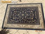 Wool Rug colour navy/black - classification very heavy use