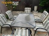 Monterey garden table + 6 chairs with cushion
