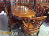 Solid Rosewood Dining Set