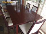 Dining table, 6 chairs