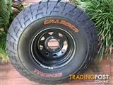 4WD GENERAL GRABBER 33 x 12.5 x 15 MT AND RIMS
