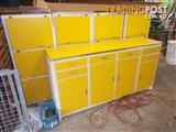 Funky Yellow 1955 Vintage Kitchen Cabinet Setting - Frankston area