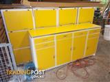 Funky Yellow Retro Kitchen Cabinets