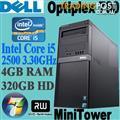 Dell Optiplex 790 Minitower Core i5-2500 4x3.30GHZ 4GB 320GB DVDRW WIN-7 PRO+COA