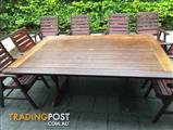 9 Piece Outdoor Setting