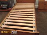 Two Single IKEA beds with slats