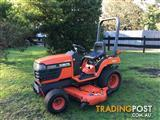 Kubota tractor with mower deck