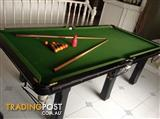 Pool Table 2570mm X 1350mm - Solid Slate Top with Empire Rails