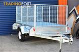8x5 Trailer with 900mm cage and 1200mm fold down Ramp Heavy duty