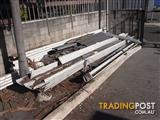20' long Stratco powder coated aluminium roofing sheets in excellent condition.