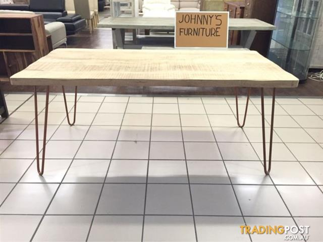 RAVI DINING TABLE 180 CLEAR COPPER