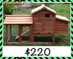 NEW Chicken Coop w Double Nesting Box or Rabbit Hutch, Guinea Pig Ferrit Hutch w 2 Sleep Area