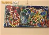 Rectangular canvas painting