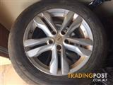 "3 NISSAN X-TRAIL T31, 17"" ALLOY MAGS WITH TYRES"