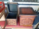 2 decorative storage boxes