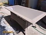 6 seater out door table (table only)