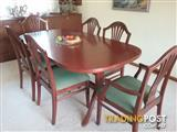 6 piece extendable dining set