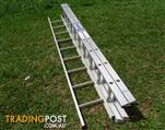 3m LADaMAX Industrial Aluminium Ladder 150kg rating