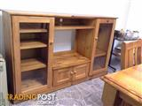 Solid Pine TV and Display unit