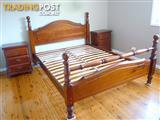 Solid Timber Queen Bed Frame - Pick up only