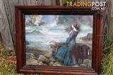 Miranda, the Tempest John William Waterhouse Art Print in wooden frame