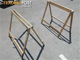 Pair of Wooden Fold up Sawhorses