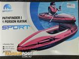 New Path Finder 1 person inflatable Kayak with paddle and pump!!!
