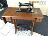 Antique Vintage Singer Sewing Machine with Bench