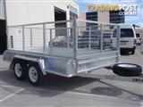 10x6 Tandem Trailer Galvanised With 300mm Checker Plate Sides & 800mm High Cage