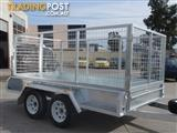 10x5 Tandem Trailer Galvanised With 300mm Checker Plate Sides & 1000mm High Cage