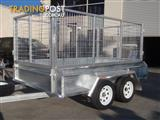 9x5 Tandem Trailer Galvanised With Deep 410mm Checker Plate Sides & 1000mm High Cage