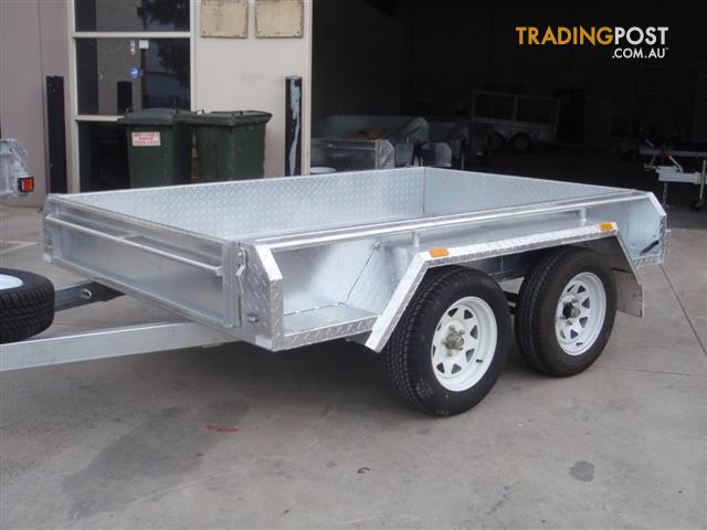 8x5 Tandem Trailer Heavy Duty Galvanised With 300mm Checker Plate ...