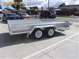 12x6 Tandem Trailer Heavy Duty Galvanised With Deep 410mm Checker Plate Sides