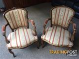 Pair antique armchairs