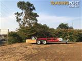 """2006  Heavy duty tandem axle trailer with 15"""" light truck tyres, battery and toolbox included."""