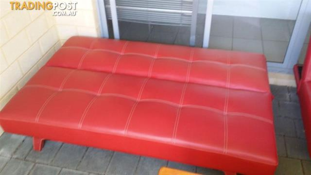 Pair of Red Sofas from SuperAmart