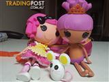 Lalaloopsy dolls and backpack
