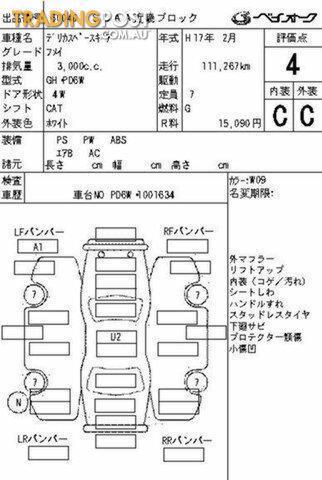 2005 Mitsubishi Delica LIFT KIT SPACEGEAR Wagon