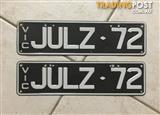Personalised Plates Victoria JULZ.72
