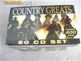 COUNTRY GREATS OVER 400 SONGS 20 CD BOX SET