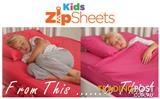 Kids Zip Sheets - Zippered bed sheets for children in all bed sizes $69.95