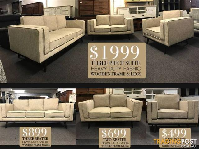 BRAND NEW DESIGNER SOFAS   CLEARANCE SALE ON NOW!