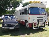 Bedford Motorhome, Car and Trailer