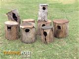 Parrot nest boxes