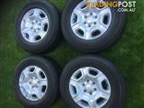 4 x Ford ranger xlt rims and Tyers