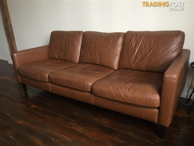 Leather Lounge 3 Seater For Sale In Pyrmont Nsw Leather Lounge 3