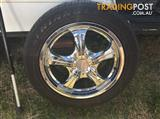 "16"" Speedy chrome mag 4 x 114.3 wheels and tyres"