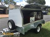 New Stainless steel trailer with a truckmounted carpet cleaning machine